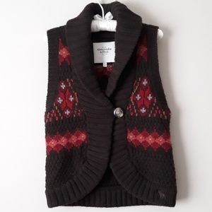 3/$20 Abercrombie&Fitch Chunky Knit Wool Vest Sz M